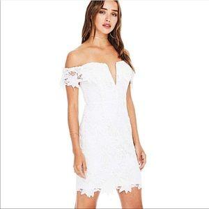 ASTR The Label Daniela White Lace Dress Medium